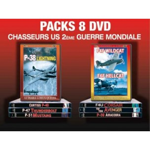 PACK 8 DVD CHASSEURS US 39-45
