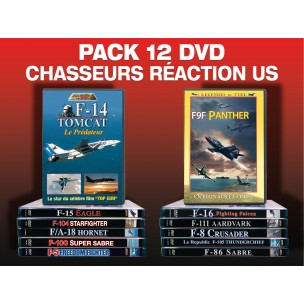 PACK 12 DVD CHASSEURS A RÉACTION US